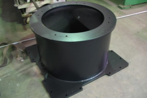 fabricated robot pedestal